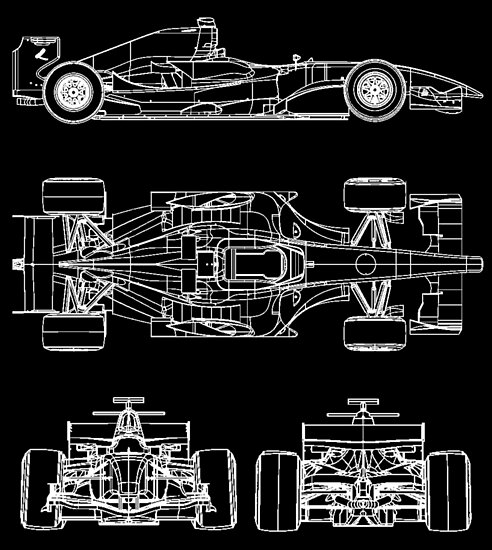 F1 race car blueprint project posters by ideasfinder redbubble f1 race car blueprint project by ideasfinder malvernweather Choice Image