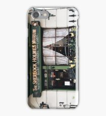 221B Baker Street, Good Evening Mr Holmes iPhone Case/Skin