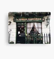 221B Baker Street, Good Evening Mr Holmes Canvas Print