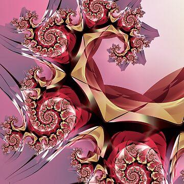 Pink Spiral Pattern by pinkal