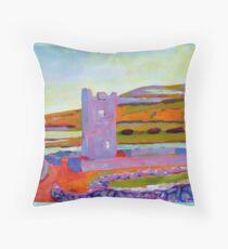 Burren Tower, Clare, Ireland Throw Pillow