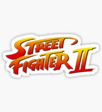 Pegatina Logotipo de Street Fighter 2 II