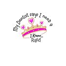 Cute crown thanks to the dentist in pink by CindyDs