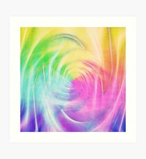 Abstract light colorful dynamic energy Art Print