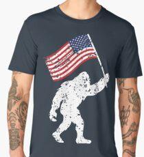 Bigfoot 4th Of July Shirts Fireworks Patriotic USA Flag Yeti Monster Men's Premium T-Shirt