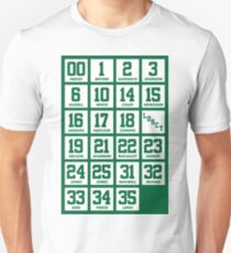 Retired Numbers - Celtics Unisex T-Shirt