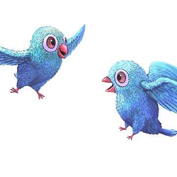 Happy Birds by Lefrog