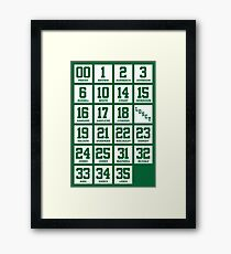 Retired Numbers - Celtics Framed Print