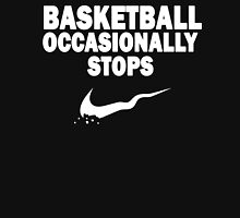 Basketball Occasionally Stops - Nike Parody (White) Unisex T-Shirt