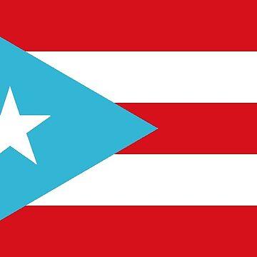 Flag of Puerto Rico (1895-1952)/ Nationhood Flag by PZAndrews