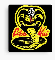 Cobra Kai Dojo - Schwarz Leinwanddruck