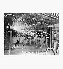 nikola testa lightning Photographic Print