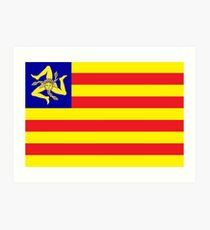 Sicilian Independence Flag Art Print
