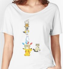 Pikachu Clone Totem Pole Women's Relaxed Fit T-Shirt