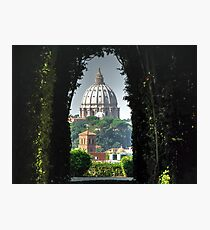 Vatican and St Peters LATEST VERSION Photographic Print