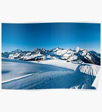 Riffelberg Panorama in Winter Poster