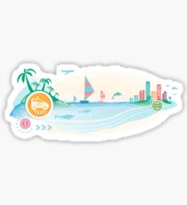 Taxi car sign icon on travel background.   Sticker