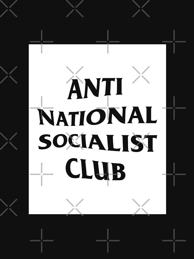 Anti Nazi Club Rectangle (White) by Graograman