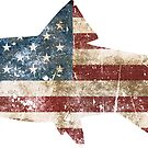 «Bandera de pescado rústico» de birchandbark