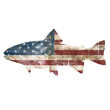 Rustic Fish Flag by birchandbark