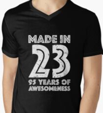 95th Birthday Gift Adult Age 95 Year Old Men Women Mens V Neck T