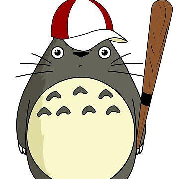 Totoro baseball by benbdprod