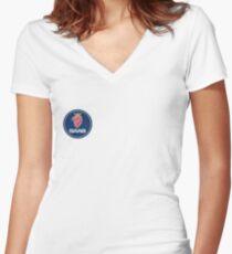 Saab Car Logo Women's Fitted V-Neck T-Shirt