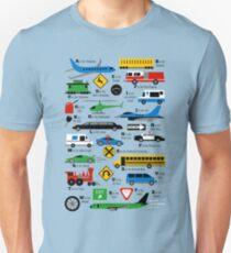 Planes, Trains, and Automobiles Alphabet Shirt Slim Fit T-Shirt
