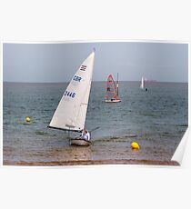 Sailing in Minnis Bay Poster
