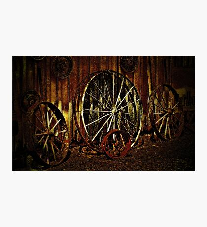 """""""Wagon Wheels under a Full Moon""""... prints and products Photographic Print"""