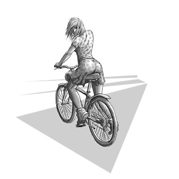 «Fille à vélo» par le-grom