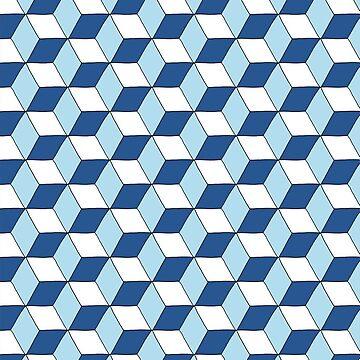 «Cubes bleus» par RosaLeeDesign