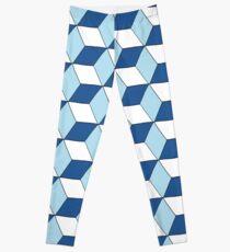 Cubes bleus Leggings