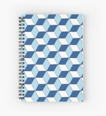 Cubes bleus Cahier à spirale
