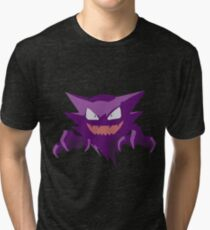 Haunter Pokemon Simple No Borders Tri-blend T-Shirt