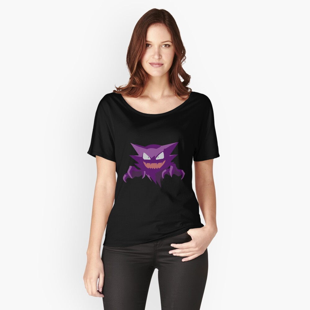 Haunter Pokemon Simple No Borders Women's Relaxed Fit T-Shirt Front