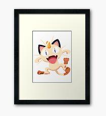 Meowth Pokemon Simple No Borders Framed Print