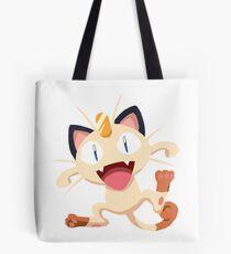 Meowth Pokemon Simple No Borders Tote Bag