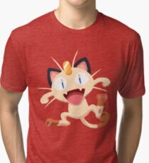 Meowth Pokemon Simple No Borders Tri-blend T-Shirt