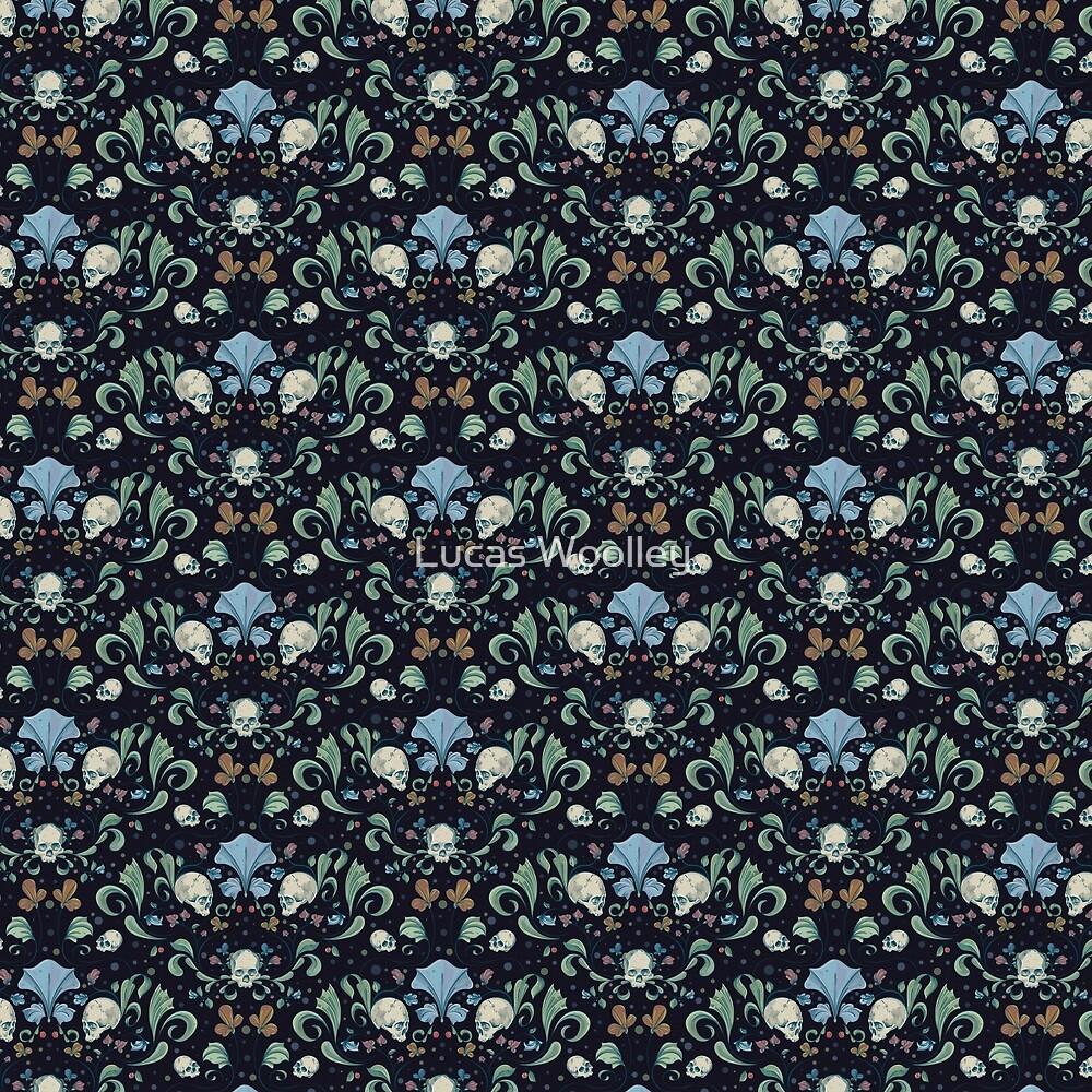 Floral Skulls by Lucas Woolley