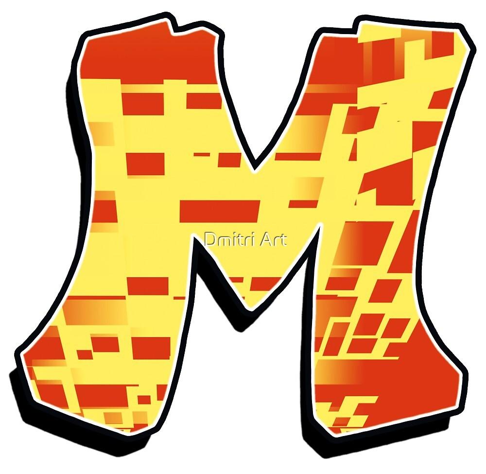 M - blocky by paintcave