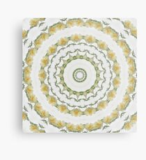 Creamy Yellow Rose Kaleidoscope Art 5 Metal Print