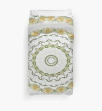 Creamy Yellow Rose Kaleidoscope Art 5 Duvet Cover