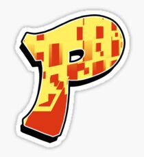 P - blocky Sticker