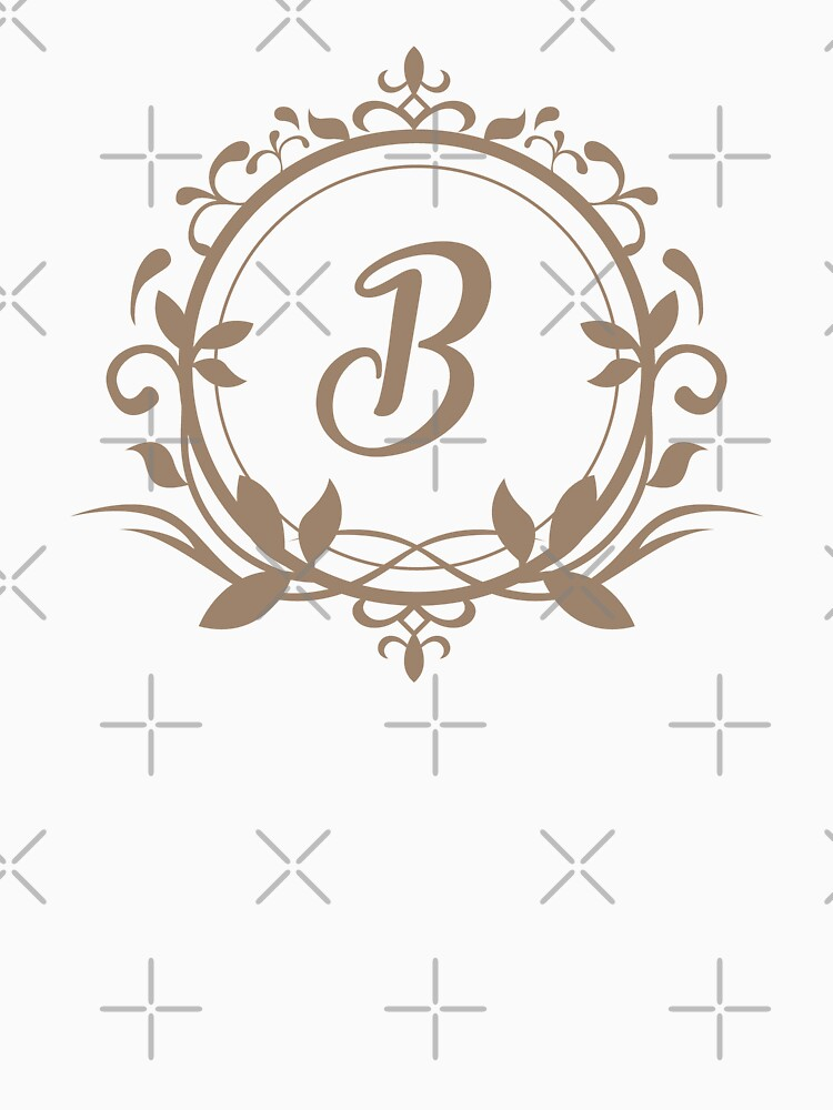 Floral Monogram B by PCollection