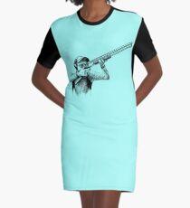 Shooting Graphic T-Shirt Dress