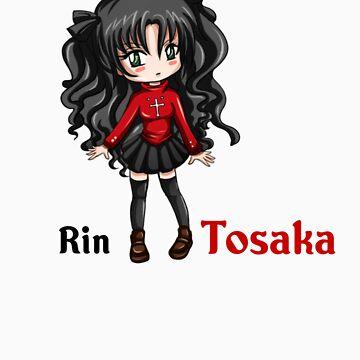 Rin Tosaka chibi by bastetsama