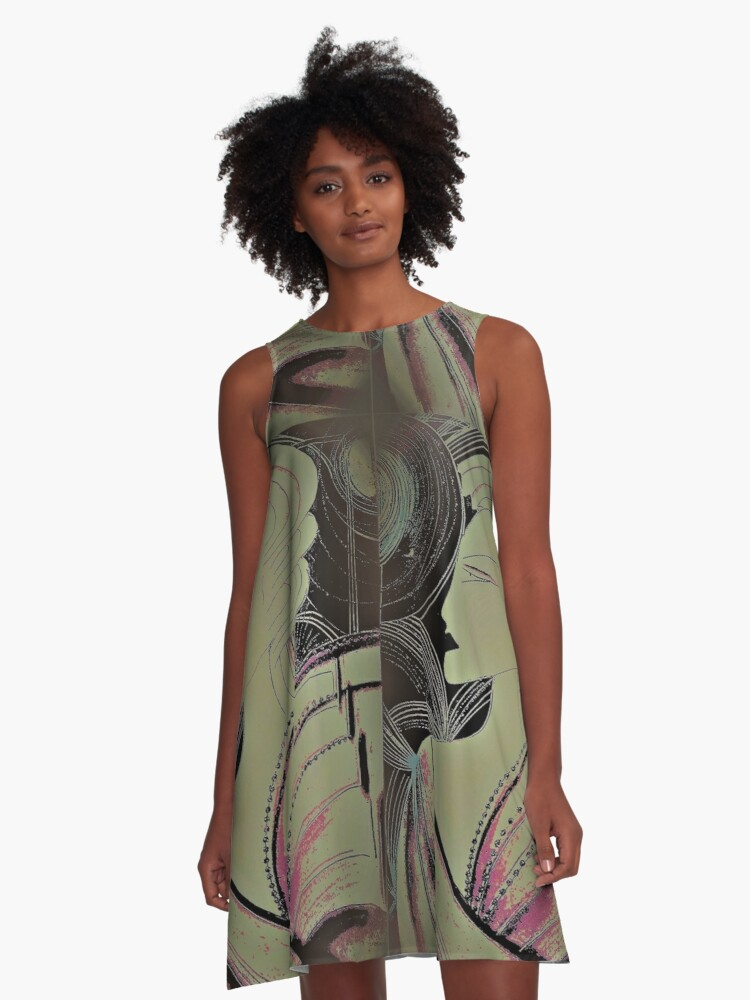 THE NIGHT OF ART DECO A-Line Dress Front