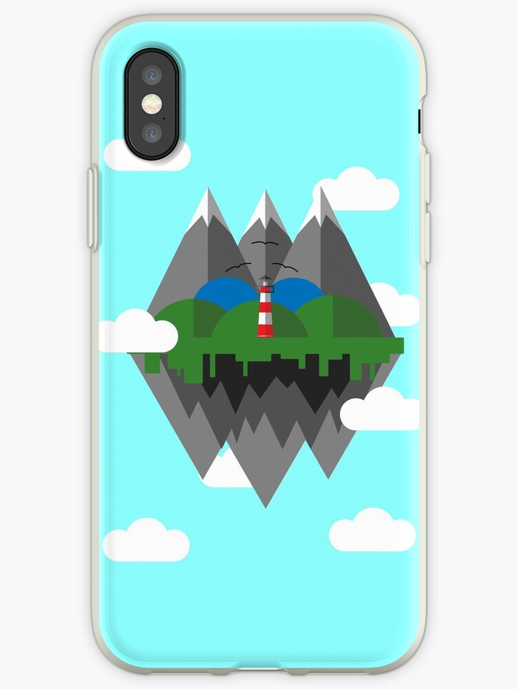 the latest 6c6a8 6e85b 'Fun Floating Island Design' iPhone Case by Jake1515