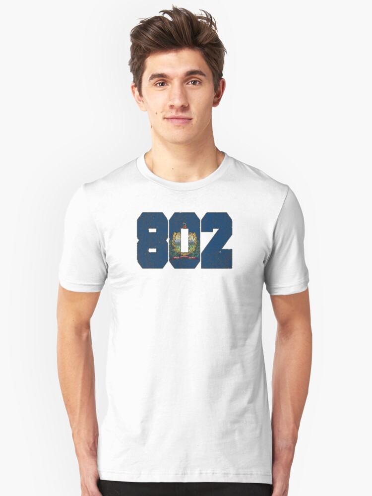 ALWAYS REPPIN' THE 802 Unisex T-Shirt Front
